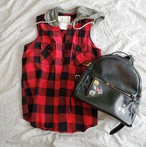 Plaid Boyfriend Vest